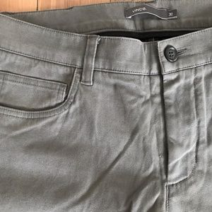 Vince Twill Cotton Chino Grey Pants Size 30 Mens